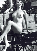 Very hot vintage girls showing their hairy pussies outside