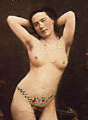 Some vintage naked chicks using color tints in thirties