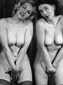 A couple beautiful vintage chicks posing in the twenties