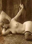 Vintage chicks in garters posing in the twenties willingly