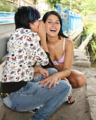 Two very horny lesbian chicks love pleasuring eachother