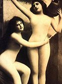 Vintage lesbian nude chicks enjoy posing in the twenties
