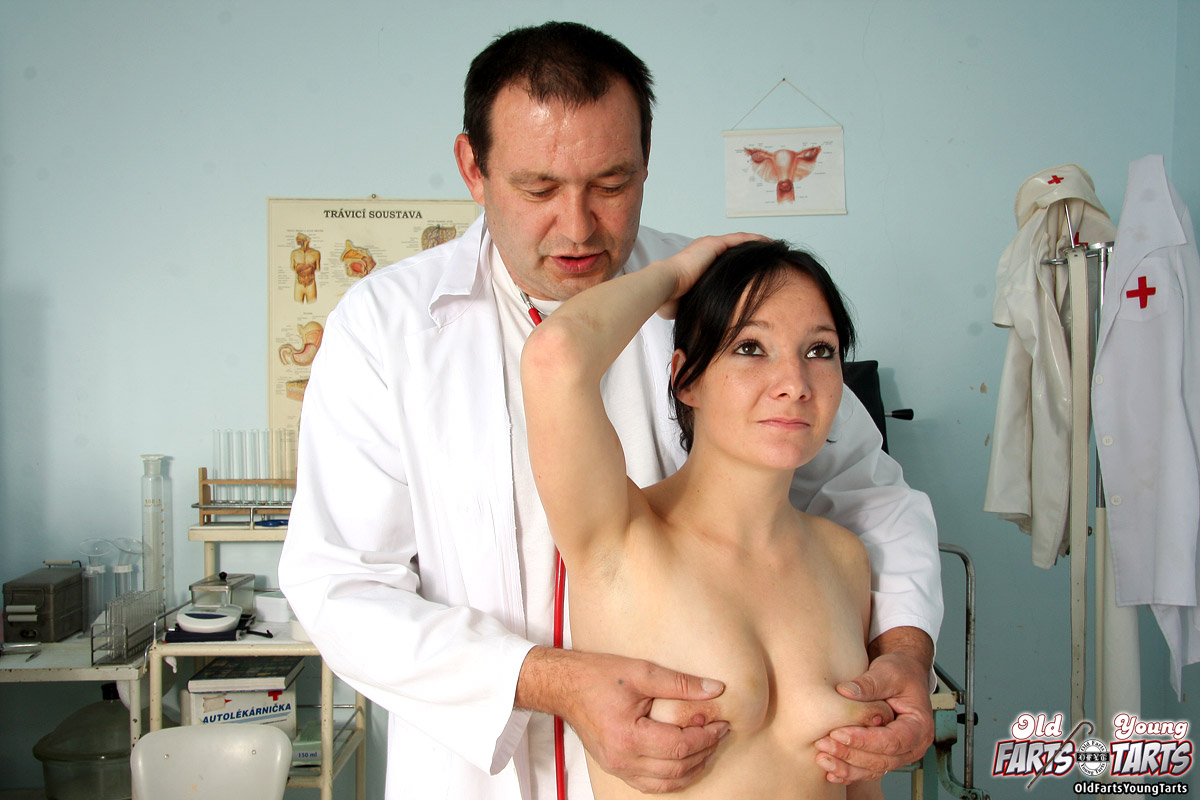 image Doctor and patient having fun