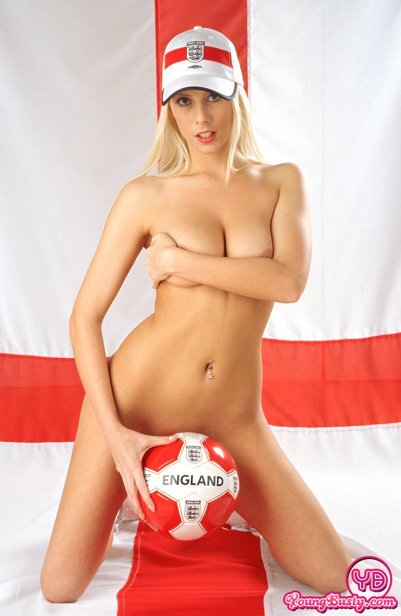 Busty blonde pleasures herself with a toy