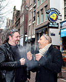 Horny sex tourists visiting sexy prostitutes in amsterdam