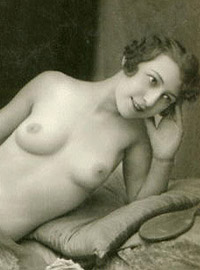 Nearly naked vintage horny chicks posing in the twenties