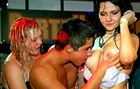 Many very hot and handsome girls screwed publicly at party