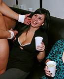 Hot and slutty club party girls getting fucked hard as hell