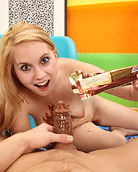 Willing naked chick covered in chocolate fucking hardcore