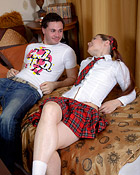 A horny student fucks a willing sexy schoolgirl hardcore