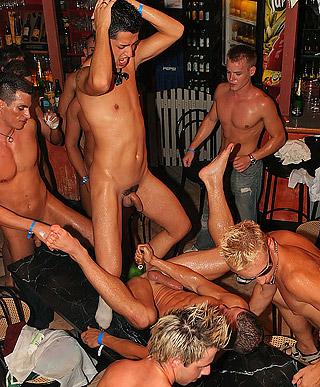 Loads of willing horny guys fucked hard at local gay bar