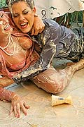 Two hot and sexy babes getting messy as hell in food fight