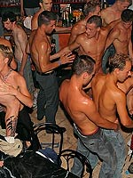 Huge hardcore gay groupsex pole smoking and ass packing