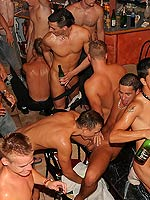 Massive group of gay guys sucking and fucking each other
