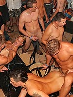 Huge group of hot and horny gay guys sucking and fucking