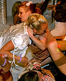 Wasted willing naked sweeties fucked hard at a dance club
