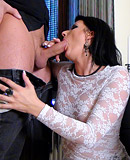 Cute pornstar screwing two horny guys at her home hardcore