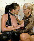 Slimeslut lesbians playing with pussies and great titties