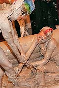 Lesbian rainbow warrior wrestling hot blonde in the mud