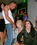 Horny clothed chicks fucking random dudes at a club hardcore