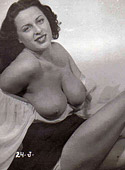 Pretty topless cute vintage girls posing in the fifties