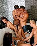 Group of horny gay guys love screwing each other and girls