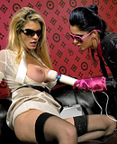 Two hot snatch rubbing lesbians filming their sex party