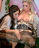 Hot adorable clothed lesbians love urinating on each other