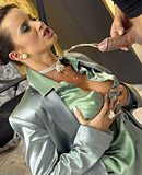 The boss enjoys banging his horny clothed secretary hard