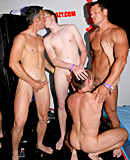 Horny skinny dudes at a gay party love penetrating butts