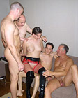 Hot lara latex enjoys screwing four guys at the same time