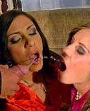 Pipe smoking horny chicks nailed by two big cocked dudes