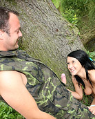 Very cute girl nailed by a horny fisherman in the woods