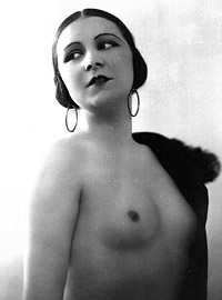 Very pretty vintage girls posing topless in the thirties