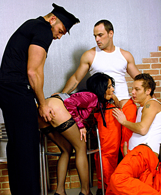 Fellows love fucking guys and girls in a prison hardcore