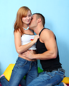Horny fellow railing a cute redhead hardcore doggystyle