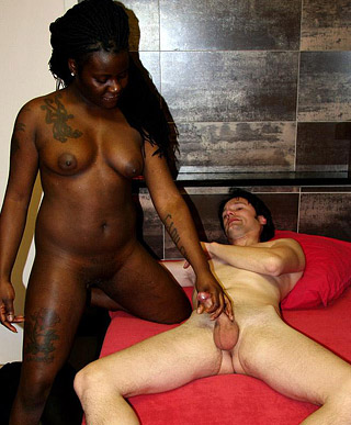 Two lucky fellows shagging very horny willing black girls