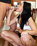 Horny smoking sweetheart drilled by massive pecker hard