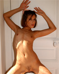 Adrianna, Skinny girl masturbating in her bedroom...