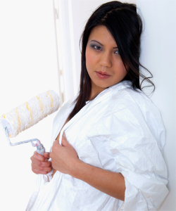 Asian Shan, a sexy house painter... (strip, mast, bj)