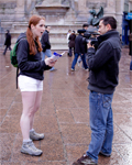 Funny redhead tourist girl lost in Paris loving sperm...
