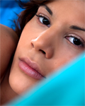 Coco Charnelle new hot brunette toying under the duvet!