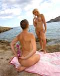 Eliska and Angell hardcore lesbian on a greek island
