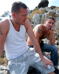2 teens having sexual fun with 2 boys in cretan scrubland!
