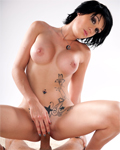 Kenza Sucke, tattoed busty girl, hardly assfucked by Mike Angelo!
