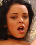 Liza del Sierra plays with several dildos