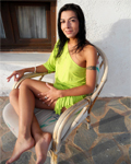 Lou Charmelle petite brunette fingering herself outdoor...