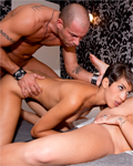 Liza Del Sierra, Jasmine Arabia and Mike Angelo: anal threesome!