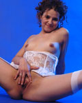 Roxanne, teen 18 yo, in a strip & masturbation scene...