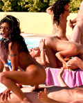 Sex orgy with boys and girls around the pool! (part2)